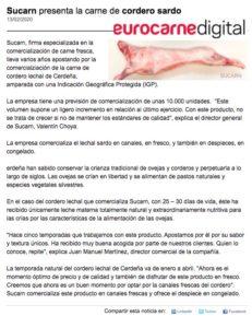 Sucarn mayoristas de carne cordero sardo